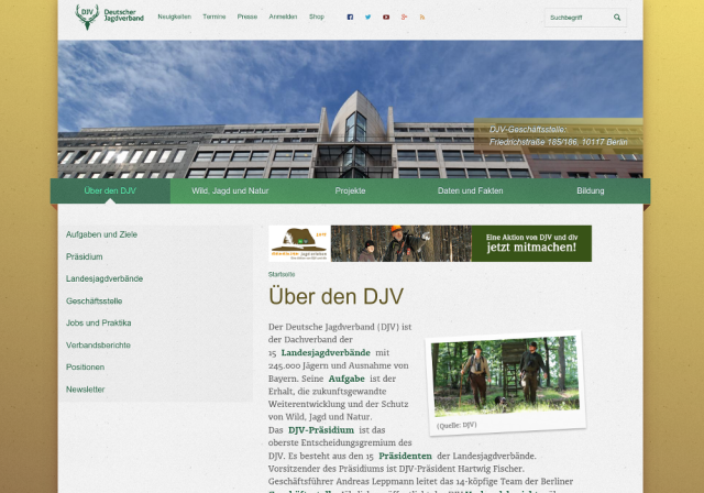 DJV Webauftritt Über den DJV