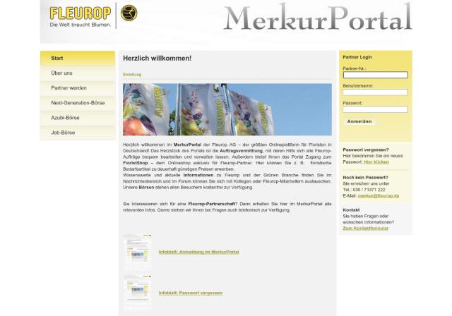 Fleurop Merkurportal Startseite