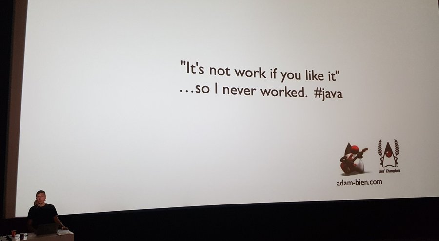 "Slider: ""It's not work if you like it"" ... so I never worked. #java"